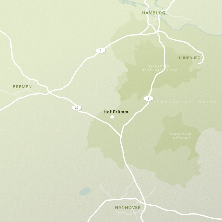 Karte Lüneburger Heide Und Umgebung.Ferienhaus Hof Prümm Umgebung
